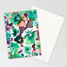 Zoe Floral Sea Green Stationery Cards