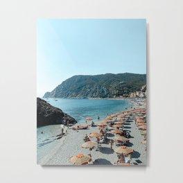 Beach of Monterosso al Mare Cinque Terre, Italy Fine Art Travel Print   Italy Coast   Italy Art Print Metal Print