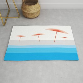 View on the beach Rug