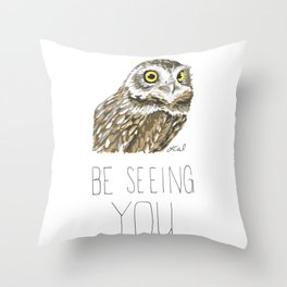 Owl Be Seeing You (Burrowing Owl) Throw Pillow