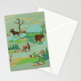 Paint by Number Woodland Animals Stationery Cards