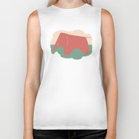 eames Biker Tanks featuring Eames Elephant by Ruby