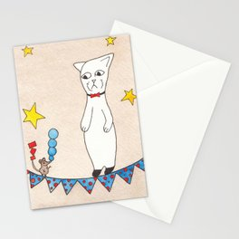 Meow the Cat vs the Show off Stationery Cards