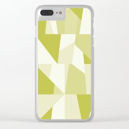 Geometric Green Pattern Clear iPhone Case