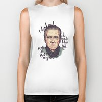 christopher walken Biker Tanks featuring Christopher Walken by Ella Betts