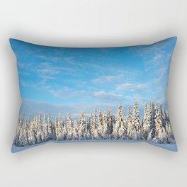Spruce After Snow Storm Color Rectangular Pillow