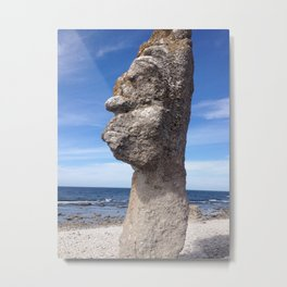SHAPE OF A FACE I SEA Metal Print