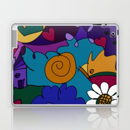 """Before the Celebration"" bold, colorful doodle art Laptop & iPad Skin"