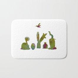 Cacti and ferret art Bath Mat