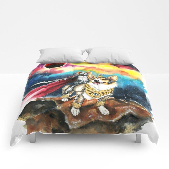 Corgi Galaxy Comforters