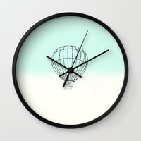 balloon Wall Clocks featuring Balloon by Mr and Mrs Quirynen