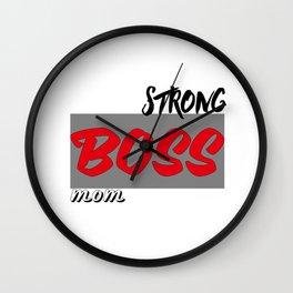 Strong: BOSS: Mom Wall Clock