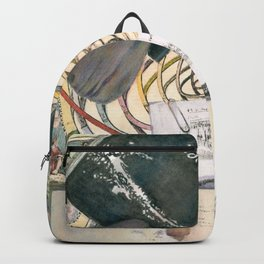 time (trompe l'oeil) Backpack