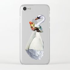 Only the Queen Can Eat Swans Clear iPhone Case