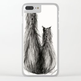 Cat, dog or hairy creature? Clear iPhone Case