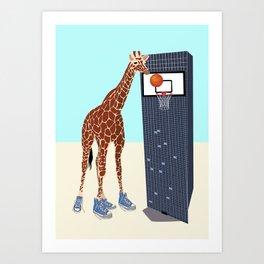 New basketball player in the neighborhood Art Print