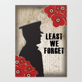 Least we forget Canvas Print