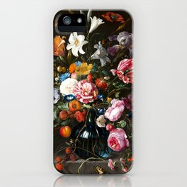 "Jan Davidsz. de Heem ""Still life with Flowers"" iPhone Case"