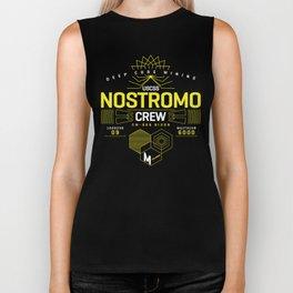 Deep Mining Crew / Nostromo / Alien / Science Fiction / Horror / Typography Biker Tank