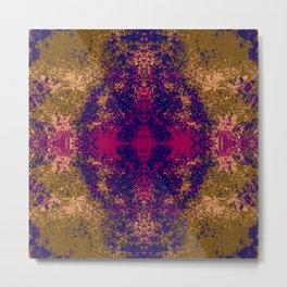 Colorful Abstract Decorative Boho Chic Style Mandala - Bundena Metal Print