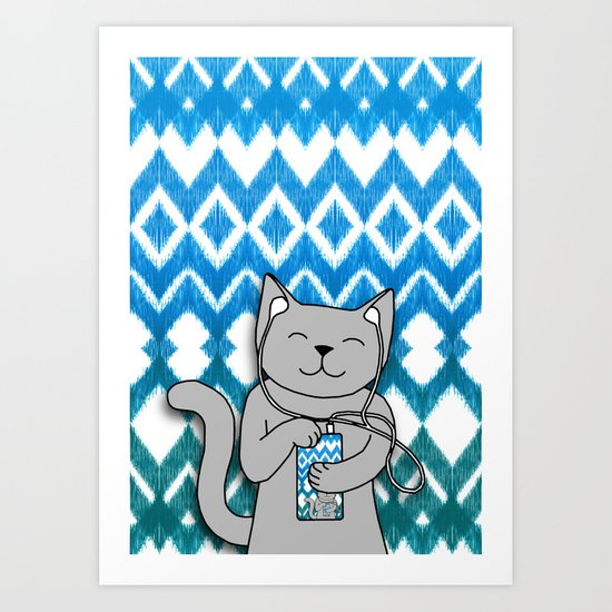 iKat iCat Art Print