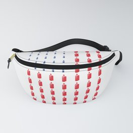American Flag design with Vaping items cloudchasers graphic USA Fanny Pack