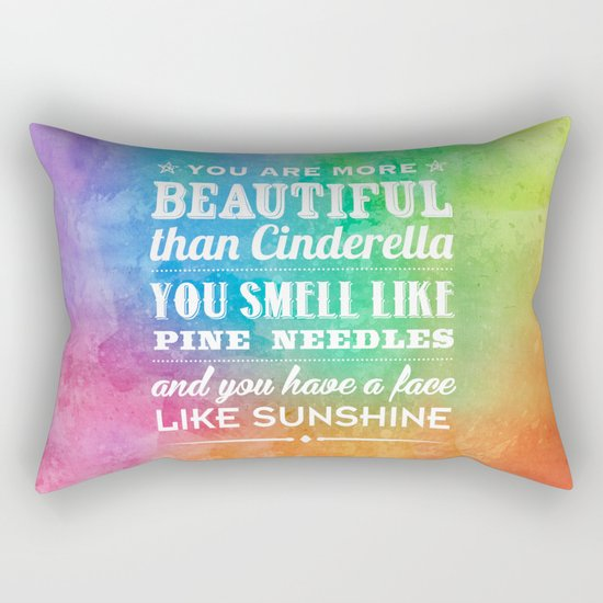 Sunshine Face Rectangular Pillow