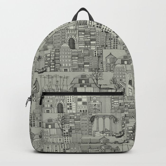 dystopian toile mono Backpack