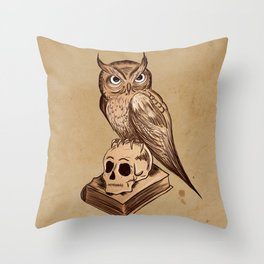 Wise Old Owl Throw Pillow
