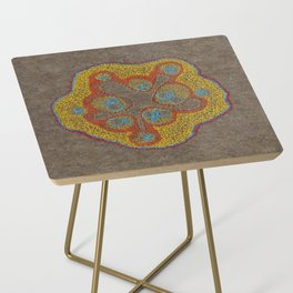 Growing - Cucumis - plant cell embroidery Side Table
