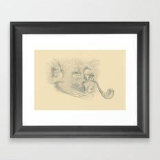 Koala with Pipe Framed Art Print