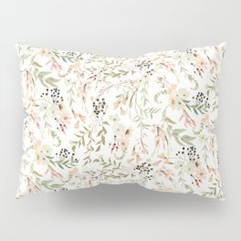 Dainty Intricate Pastel Floral Pattern Pillow Sham