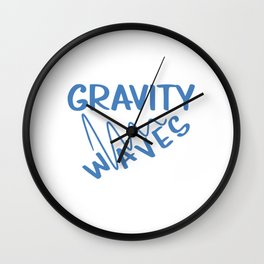 Funny & Awesome Gravity Tshirt Design Gravity Waves Wall Clock