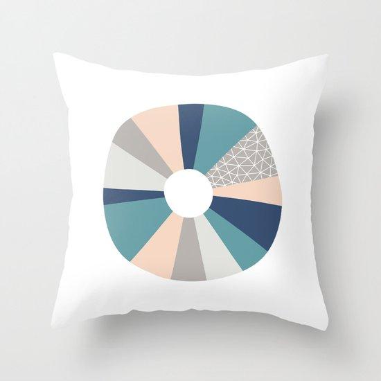 Abstract O Throw Pillow