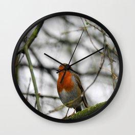 Little English Robin Wall Clock