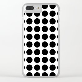 White and Black Dots Clear iPhone Case