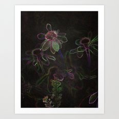 Flowers and Coffee Art Print