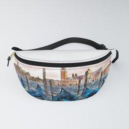 Gondolas in Venice Fanny Pack