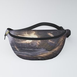 Wonderful Brave Arrow Wounded Medieval Warrior Visited By Fairy Pixie Ultra HD Fanny Pack