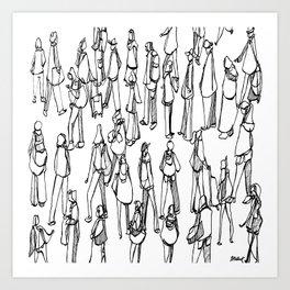 Layover, Oslo :: Single Line Art Print