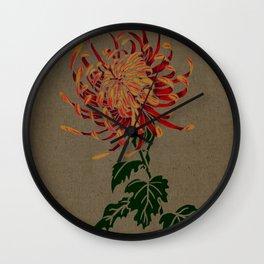 Chrysanthemum -- Ukiyo-e  Wall Clock