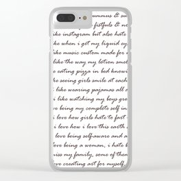 Hummus, Tats & Farts....A Real Poem by a Real Girl Clear iPhone Case