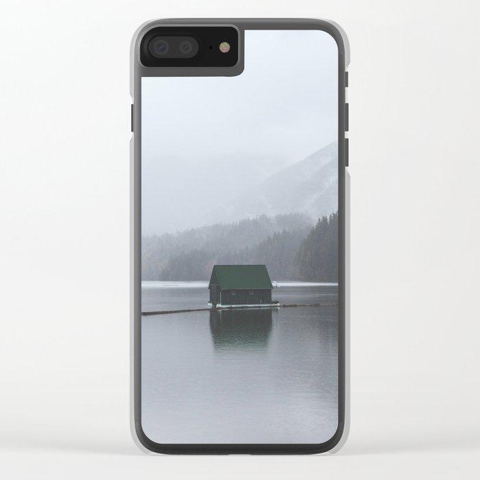 Lone Cabin Clear iPhone Case