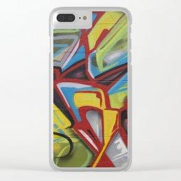 Graffiti Print Closeup Clear iPhone Case