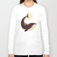 giraffe Long Sleeve T-shirts featuring The Giraffe & the Whale by Jay Fleck