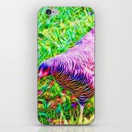 Hen on grass iPhone Skin