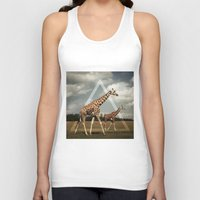 giraffes Tank Tops featuring Giraffes by Niklas Rosenkilde