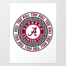 Alabama University Roll Tide Crimson Tide Art Print
