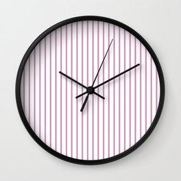 Princess Pink Pinstripe on White Wall Clock
