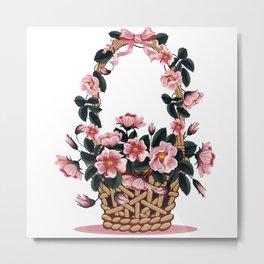 Beautiful Flower Basket Metal Print